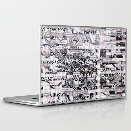Surrender Your Information (P/D3 Glitch Collage Studies) Laptop & iPad Skin