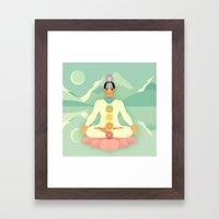 Sacred World: Chakras Framed Art Print