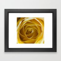 Golden Folds Framed Art Print