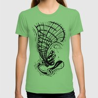 Gramophone Womens Fitted Tee Grass SMALL