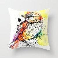 Rufous Whistler Throw Pillow