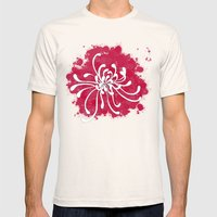 Chrysanthemum Mens Fitted Tee Natural SMALL
