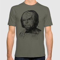 Star Trek: Worf  Mens Fitted Tee Lieutenant SMALL