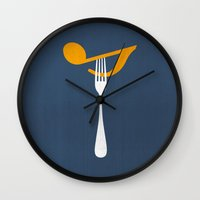 Hungry For Music Wall Clock