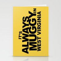 It's Always Muggy in West Virginia by RonkyTonk Stationery Cards