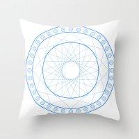 Anime Magic Circle 11 Throw Pillow