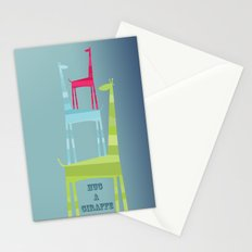 Hug A Giraffe Stationery Cards
