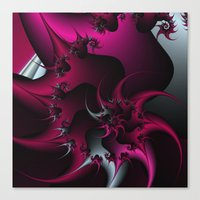 Pink Snail Canvas Print