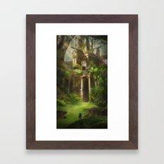 Forest Temple - Large Version  Framed Art Print