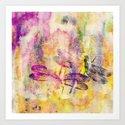 Painting Watercolor Dragonflies Art Print