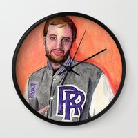 Dan Caffery by Alex Czysz Wall Clock