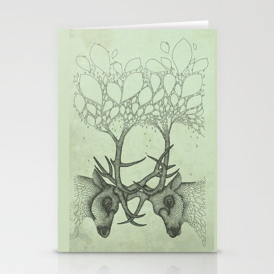 Into the Spring Stationery Card