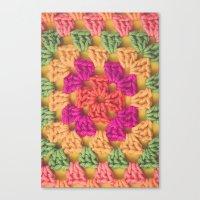 Bright Modern Crochet Pattern Canvas Print