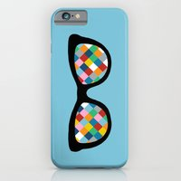 iPhone & iPod Case featuring Diamond Eyes on Blue by Project M