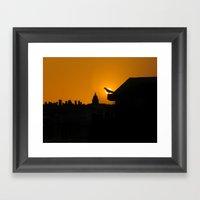 Pigeon Eclipse2 Framed Art Print