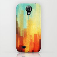 Galaxy S4 Cases featuring Urban sunset by SensualPatterns