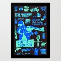 Tribute To Hunter S. Tho… Art Print
