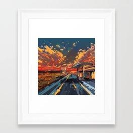 Framed Art Print - american landscape 7 - Bekim ART