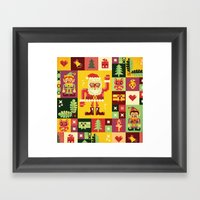 Christmas Geometric Patt… Framed Art Print