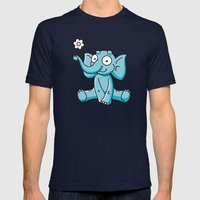 Elephant Mens Fitted Tee Navy SMALL