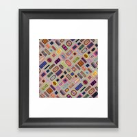 Multi Color Melody Light Framed Art Print