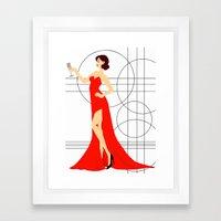 Red Elegance Framed Art Print