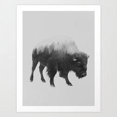 Bison (black & White Ver… Art Print