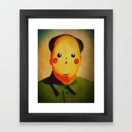 Framed Art Print featuring Chairmanchu by Chewgowski