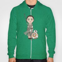 Kokeshis Rey and cute droid Hoody