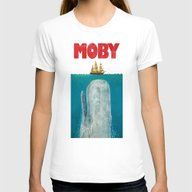Moby  Womens Fitted Tee White MEDIUM