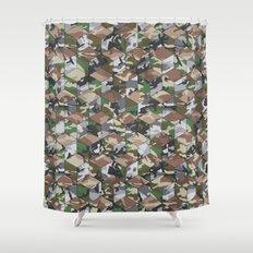 CUBOUFLAGE MULTI (LARGE) Shower Curtain