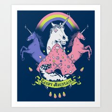 Candy Mountain Art Print