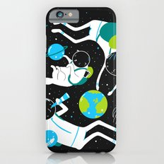 A Day Out In Space - Black iPhone 6 Slim Case