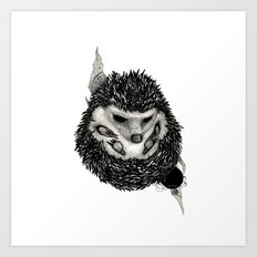 H3D93H09 (Hedgehog) Art Print