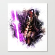 Canvas Print featuring Darth Revan by Vincent Vernacatola