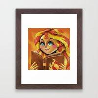 Sunset Shimmer :: Dear P… Framed Art Print