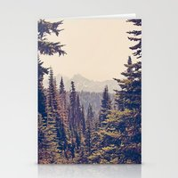 photography Stationery Cards featuring Mountains through the Trees by Kurt Rahn