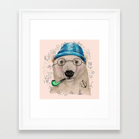 Polar Sailor Framed Art Print