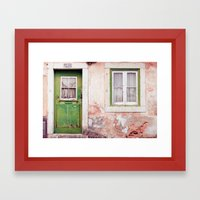 a house full of stories to tell Framed Art Print