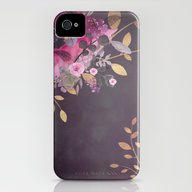 FLOWERS & GOLD  iPhone (4, 4s) Slim Case