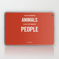 If we stop caring for animals Laptop & iPad Skin