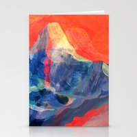 Abstract Mt. Everest Stationery Cards
