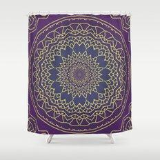 Mandala - Purple And Gol… Shower Curtain