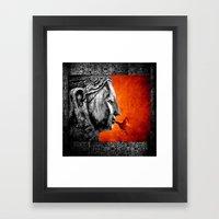 BUDDHA KISS - Frame Oran… Framed Art Print