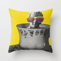Fancy A Cup Of Genius? Throw Pillow