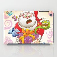 A Christmas Gift from Halloween Creepies to Santa iPad Case