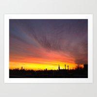 40 Foot Sunset Art Print