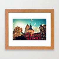 Madrid Sky Framed Art Print