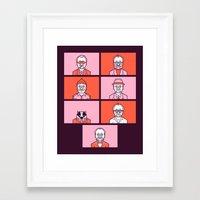 Bill x Wes Framed Art Print