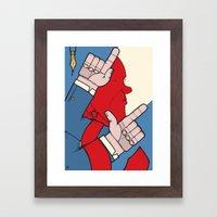 Hustle Hustle Framed Art Print
